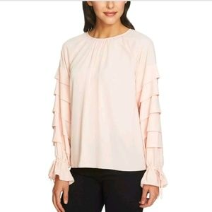 STATE 1 NORDSTROM Pink ruffled blouse